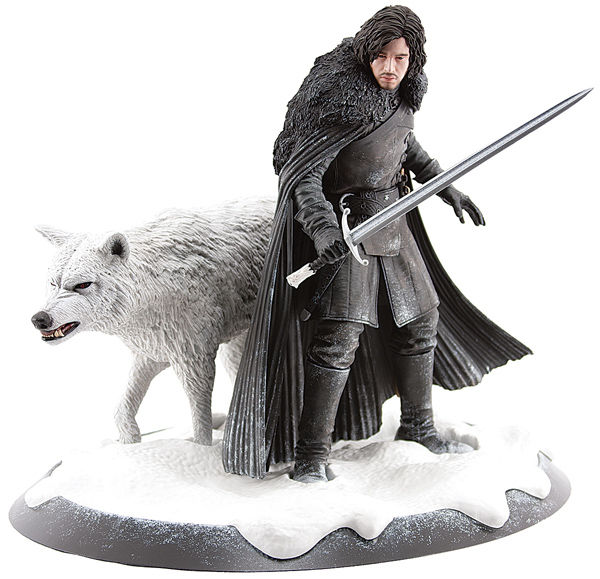 Jon Snow & Ghost Statue